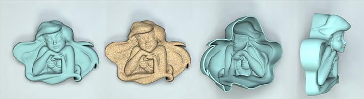 Формочка Ариэль из коллекции Дисней Росигрушка