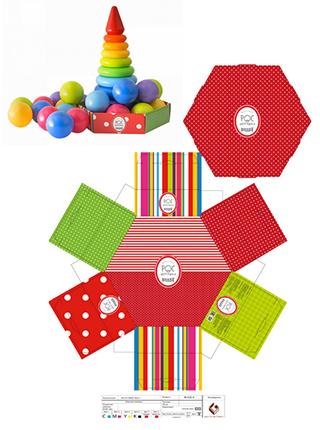 Развивающий набор Пирамида и шарики Росигрушка
